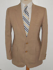 40R Mens Tan MOD Preppy Haggar Gentleman Preppy Dinner Jacket Blazer Sport Coat