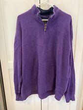 Orvis Men's Purple 1/4 Zip Pullover Sweater XL