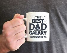 Personalised the best dad in the galaxy mug. Fathers day mug. Star wars fan gift