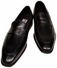 Men's Ronaldo Solid Black Italian Premium Leather Slip On Loafer Dress Shoes