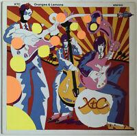 XTC ORANGES AND LEMONS 2-LP VIRGIN UK 1989 + INSERT PRO CLEANED