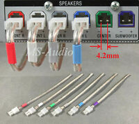 6 4.2mm speaker cable/wire plug/connectors for Select Sony Samsung home theater