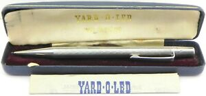 Vintage Solid Silver Yard O Led Propelling Pencil, London 1959, By JM&Co, Boxed.