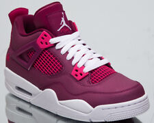 """Air Jordan 4 Retro GS """"Valentine's Day"""" New True Berry Shoes In Hand 487724-661"""