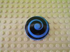LEGO 1 x Sat Radar Schirm 3960p02 4x4 blau schwarze Spirale 6497 6496