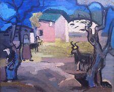 Chartier Charles, Gardienne de chèvres, Huile sur panneau v46 bis
