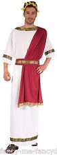 Da Uomo Bianco / Rosso Greco Dio Romano Toga Party storico Fancy Dress Costume Outfit
