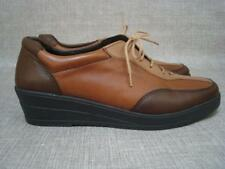 ROHDE UK 4 1/2 BROWN TAN & BEIGE LEATHER LACE UP SHOES