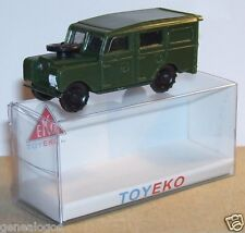 MICRO TOY EKO TOYEKO HO 1/86 1/87 SPAIN LAND ROVER MILITAIRE REF 4045 BOX