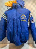 Vintage Los Angeles RAMS Football NFL Pro Player Jacket Size L