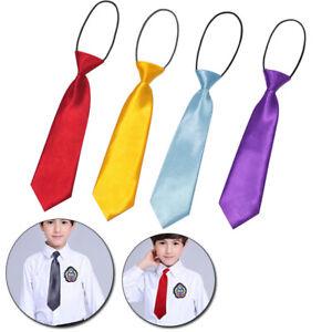 Kid Baby Boy Ties Solid Color Wedding Party School Necktie Children Neck Tie