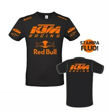 T-shirt Red Bul KTM ENDURO MOTOCROSS personalizzata stampa ARANCIO FLUO
