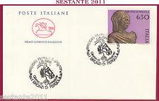 ITALIA FDC IL CAVALLINO 1988 I BRONZI DI PERGOLA ANNULLO PERGOLA PS Z12