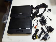 Philips PD9016 9in Dual Portable DVD Player (Renewed)