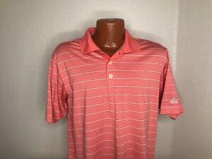 Men's Adidas Golf S/S Polo/Golf Shirt Sz Medium (M) Orange--ClimaLite