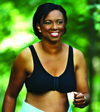 ABC American Breast Care LEISURE MASTECTOMY BRA Style 110 SIZE LARGE C/D BLACK