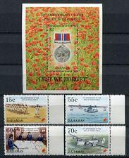 BAHAMAS 1995 Kriegsende 2. Weltkrieg WWII 861-864 + Block 77** MNH