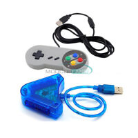 Dual PS PS2 To PC Game Controller Converter Adapter Super Controller USB Joypad
