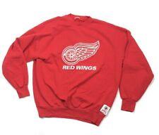 VTG Detroit Red Wings Sweatshirt Embroidered Nutmeg 90s Hockeytown Men's XL 2XL