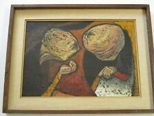 Lillian Desow-Fishbein PAINTING MID CENTURY MODERN ABSTRACT EXPRESSIONISM   RARE