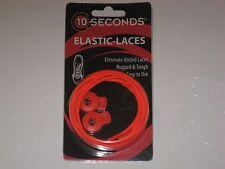 """Ten Seconds Elastic Stretch Shoelaces Shoe Laces Lock Lace Orange 36"""" Unisex"""