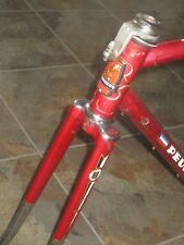 Vintage Peugeot Steel Frame Forks Road Touring Red Bike Bicycle Eroica Retro