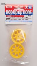 Genuine Tamiya 49040 RC RC Mini Cooper Wheels Yellow - 2pcs for M Chassis Cars