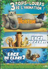COFFRET 3 DVD HORTON + L'AGE DE GLACE 1 + L'AGE DE GLACE 2