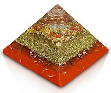 """Orgonit ® Orgon Cheops Pyramide """"Mutter der Erdung"""" Jaspis rot 14x14cm"""