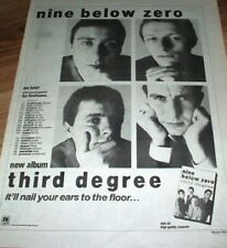 "NINE BELOW ZERO Third Degree Tour 1982 UK Poster size Press ADVERT 16x12""  blues"