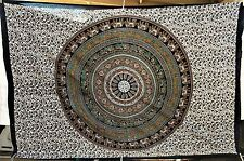 L@@K!NEW INDIAN MANDALA BED THROW WALL TAPESTRY BOHO HIPPIE  BEACH TWIN SIZE-M16