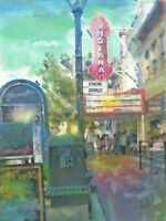 PRINT Downtown Bloomington Indiana Buskirk Chumley Theater Cityscape Wall Art