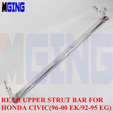 Rear Upper Strut Brace Bar Fit For Honda Civic 92-95 / EG / 96-00 / Ek  Silver