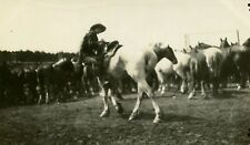 1920s RPPC Postcard Woman Riding Horse rodeo cowgirl Canada AZO