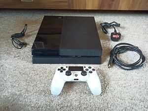 Sony PlayStation Ps4 500GB Console with Controller and Wires