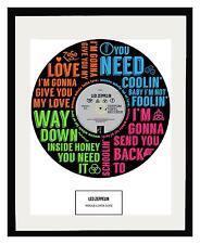 LED ZEPPELIN - MEMORABILIA - Framed Art Poster - Ltd Edition - An Ideal Gift