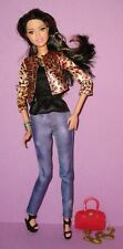 Barbie Style Raquelle Articulated Poseable Lashes Leopard Jacket Asian Doll