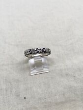 Size 7 Silver Tone Flower Ring 51-8
