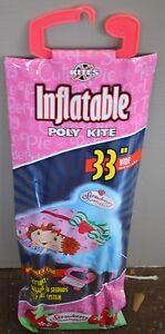 "NW NINJA Turtles 33"" Wide INFLATABLE Poly Kite XKites Ages 5+ Skytails Handle"