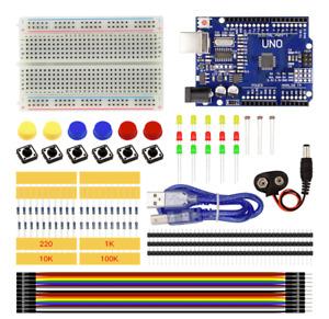 ARDUINO UNO R3 mini - STARTER KIT - Breadboard LED jumper wire button