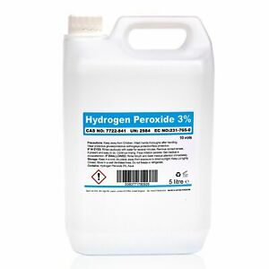 10 Vols. 3% Hydrogen Peroxide Bottle of 5l 5 litre for Cleaning, Disinfecting