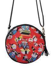 Red GIAPPONESE SUSHI CAT ROUND Handbag-Giappone Gattino Borsa Clutch kawaii