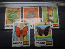 S145 STAMPS  GHANA 1968  BUTTERFLIES + MI 342-346  MNH