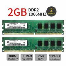 4GB 2x 2GB DDR2 1066MHz PC2-8500U DIMM Desktop Gaming Memory OC RAM Qimonda 777