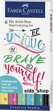 Faber Castell Tuschestift Pastell PITT artist pen Handlettering 6er !bestprice!