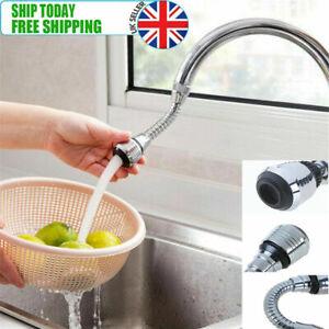 360 Degree Swivel Tap Extension Aerator Sink Mixer Faucet Nozzle Spray Kitchen