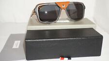 DITA Thom Browne Sunglasses New Grey Silver Brown Leather Green TB-010C-T-56