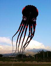 2018 3Deyes 15m Black 1 Line Stunt Parafoil Octopus POWER Sport Kite outdoor toy