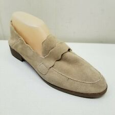Lucky Brand 10M Tan Leather Loafers LK CALLISTER Unstructured Soft Suede