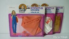 Lot de 3 Blisters Les Vêtements de Super Jaimie The Bionic Woman / 1974 [ Neuf ]